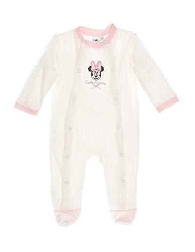 70b71dd63e355 Minnie Coffret Pyjama Velours bébé Fille Rose et Blanc de 0 à 6mois - Blanc