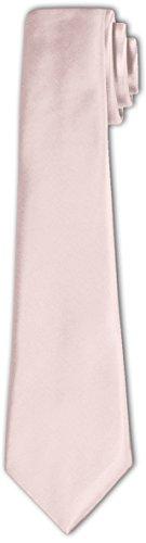 CRIXUS Krawatte klassisch Hell Puder Satin-Krawatte mit oder ohne Einstecktuch ( Tuch Maß 26 x 26...