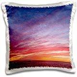 Steve Kazlowski - Sunrises - USA, Alaska, Kaktovik. Landscape of sunrise reflecting in clouds. - 16x16 inch Pillow Case