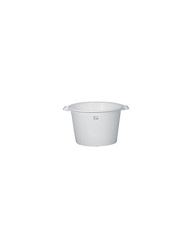 ALUMINIUM ET PLASTIQ Baquet Rond 55 L, Blanc Alimentaire