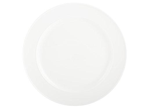 MIKASA Plato Llano, Porcelana vitrificada, Color Blanco