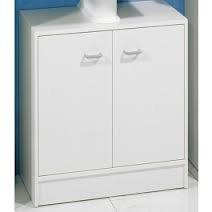 Waschbeckenunterschrank in weiß, sehr schlicht
