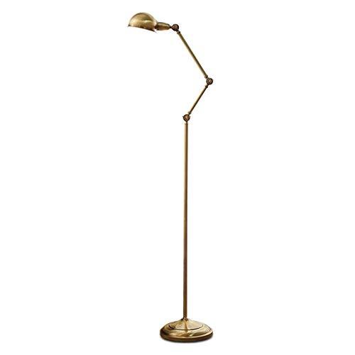 DYFYMXWohnzimmer Stehleuchte Stehlampe Schlafzimmer einfache Studie Leselampe Bronze Wohnzimmer kreative vertikale Tischlampe Standardbeleuchtungsboden -