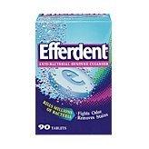 Efferdent Denture Cleanser, Anti-Bacterial, Bonus Pack, 90 ct. by Efferdent -