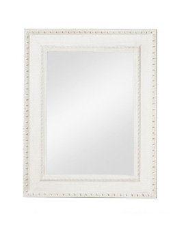 Specchiera di legno bianca stile vintage con fregi L'ARTE DI NACCHI NT-41