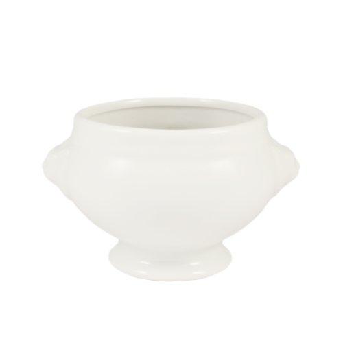 CAC Porzellan-Bouillon mit Löwenkopf 4-1/2-Inch by 4-Inch by 2-3/4-Inch 8-Ounce Super white; bright white 8 Oz Bouillon