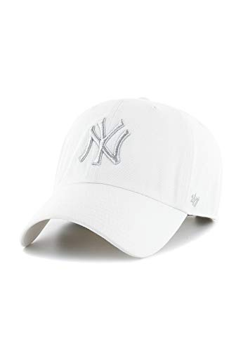 47Brand Clean Up Adjustable Cap NY Yankees B-MTCLU17GWS-WHB Weiß, Size:ONE Size (Snapback 47brand)