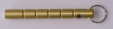 Kubotan Key Chain, Schlagstock, Druckverstärker, Schlüsselanhänger gold stumpf