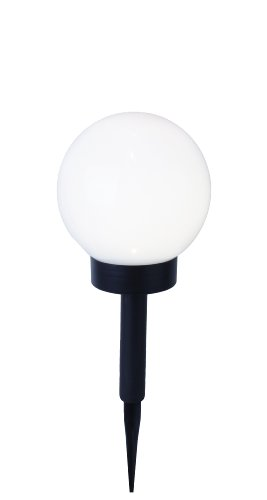 Best Season lampe led solaire sphérique blanc 15 cm blanc