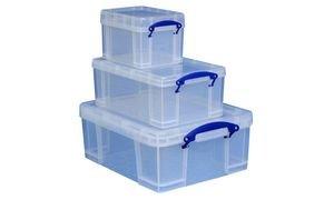 Really Use Box BNS9337 Aufbewahrungsbox 3er-Set, 3 L, 9 L, 18 L 3 Liter Set