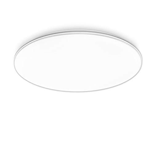 LVWIT Lámpara de Techo LED - 24W equivalente a 144W, Plafón LED de 2040 lúmenes, Color blanco neutro 4000K, No regulable - 40 x 40cm.