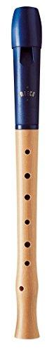 Moeck 1024 Flauto 1 plus Sopran - Barock - Einfachloch, blau