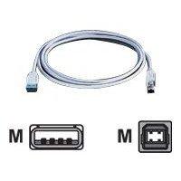 USB 2.0 A/B Kabel grau 3m (Drucker Kabel Usb)