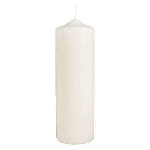 Rayher Hobby 3140796 Stumpenkerze, creme, rund, 100% Paraffin, Höhe 25 cm, 8 cm ø, Rundkerze, Taufkerze, Kerzenrohling zum Verzieren und Basteln