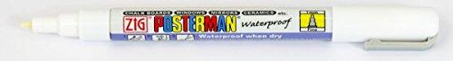 Zig Posterman weiß Tafel Marker Stift 1mm Spitze, weiß (Single-Stift) pma-20 (Spitze Schiefer)