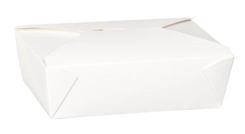 Thali Outlet - Contenitore per alimenti caldi e freddi, a prova di perdita, da asporto, 50 pezzi, 2 l, colore: bianco
