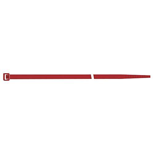 Serre-câbles en nylon rouge 4,5 x 280 mm a sapi lot de 100