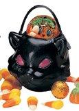 Set mini borsette portadolcetti a gatto nero per halloween 6 pezzi cm 4. Idea graziosa anche per la tua tavola come porta sale zucchero o pepe a tema halloween COLORI NERO VERDE ARANCIONE Indicare il colore. Se non viene indicato verrà inviato a nostra scelta
