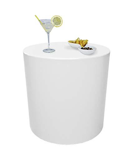 Mesa, taburete, puf, modelo Sundara, color blanco