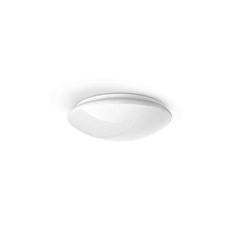 Hama Wi-Fi LED WLAN Decken-Lampe/Deckenleuchte (kompatibel mit Alexa/Google Home, ohne Hub, dimmbar, Ø 30 cm, App-/Sprachsteuerung, zB per Echo Dot, warmweiß/neutralweiß/kaltweiß, Glitzereffekt, rund)