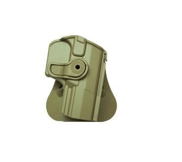 Walther PPQ Polymer Retention Roto Holster Tan and a genuine IGWS's firing range earplugs kit. by IMI Israel