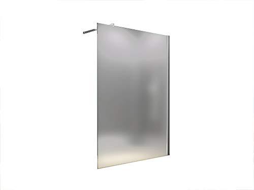 100x200 cm Duschabtrennung LILY Frost, Milchglas, Duschwand, Walk-In Dusche, 10 mm ESG Sicherheitsglas -