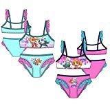 Pack de 2 Bañadores (Bikini 2 Piezas) 2 Modelos Diferentes Diseño Patrulla Canina Paw Patrol (Nickelodeon) 85% Poliester 15% Elastano (4 Años)