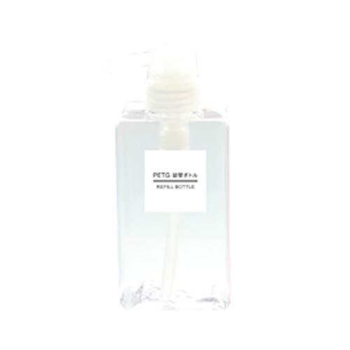 Chowcencen Platz Lotion Leer Press Flasche Hand Sanitizer Shampoo-Flasche Kosmetik Reisen Lotion 450ml Container -