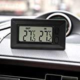 Qiulip Auto-Thermometer mit LCD-Display, für Innen- und Außenbereich, 1,5 m Kabel -