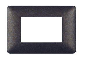 BTicino AM4803TGG Matix Placca 3 Moduli, Caffe'