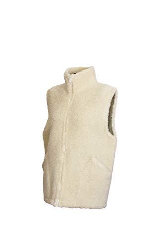 Karbaro Weste aus Schafwolle mit Stehkragen Weiß (L)