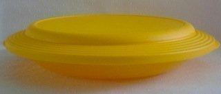 Tupperware Teller groß XXL mit Deckel rot Servierschale flach Schüssel 550ml (rot) (Fisch-schüssel Trinken)