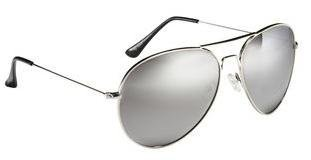 Kids, Childrens, Silver Metal Frame Aviator Sunglasses, Silver Mirror Lens, With Free Yellow Neck Cord, 100% Full UV 400 Protection