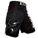 Noir véritable monocouche de combat Arts martiaux Kick Boxing Grappling Short Cage-XL