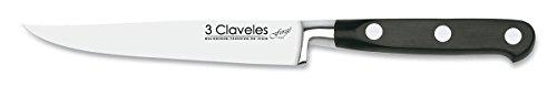 3 Claveles Forgé - Cuchillo chuletero forjado, 12 cm, 5 pulgadas