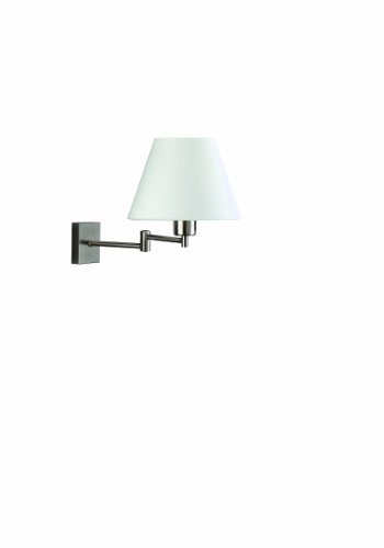 Massive 36412/17/10 Junius - Lámpara de pared con brazo movible y pantalla (E27), color cromo mate