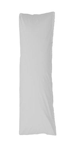 hochwertiges Jersey-Seitenschläferkissen-Bezug, grau, 140x40cm