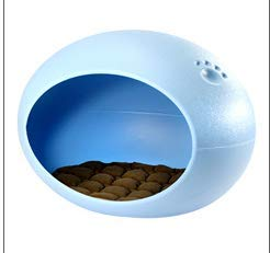 Bright Love Plastik Dog Nest Cat Nest Sommer Anti-Beißen Nicht-Stick Haar Abnehmbare Teddy PET Nest,Blue