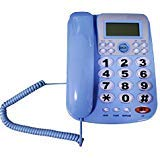 HePesTer P-34Blue Big Button Phone for Seniors Amplified Corded Phone with Caller ID