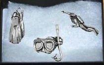 Geschenkverpackung 3er satz Zinn Pin Abzeichen-Tauchen Stecker
