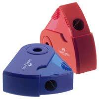 Temperamatite faber 1 foro mini sleeve rosso blu