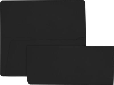 Billete de Avión sobres (37/8x 81/2)-Midnight negro (1000unidades.)
