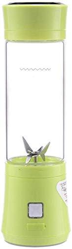 LITING Tragbare Entsafter Multifunktionale Mixer Flasche Mini Persönliche Smoothie Maker Mixbecher Für Obst Gemüse Milch Shake Babynahrung, USB Aufladbar (Farbe: Grün)