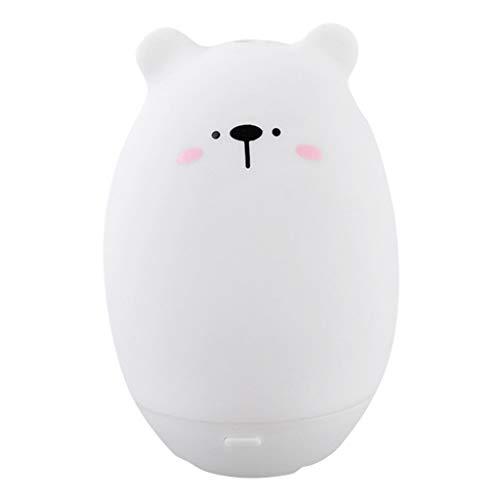 BBestseller Humidificador de Silicona USB,Luz de Noche LED Difusor de purificador de Aire humidificador ambientador