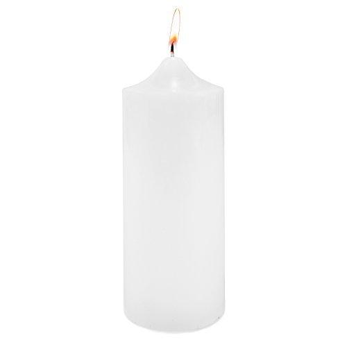 22,9x 7,6cm geruchloses weiß Stumpenkerze für Hochzeiten, Home Dekoration, SPA, Entspannung, Rauchfreie Baumwolle Docht. (1Kerze) von Super Z Auslass
