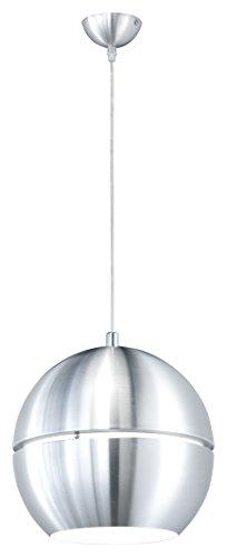 Innen-hängeleuchte (Trio-Leuchten 300203005 Pendelleuchte in Aluminium, ø 30 cm, innen weiß)