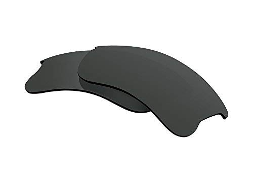 Polarized Lens Replacement Compatible with Oakley Flak Jacket XLJ Sunglasses Lenses Polarized Black