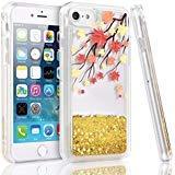 iPhone 7Fall, iPhone 7Plus Fall, miadore Liquid Blume Case Fashion Design Bling Glitzer für iPhone 7, Pink Flüssigkeit Handy Fall für Frauen, Mädchen, Freundin, iPhone 7 Plus, Herbst Pink Handy Fall