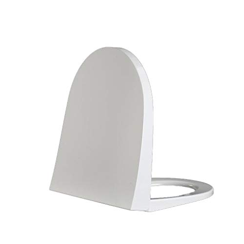 DNSJB Weißer Schnellverschluss-WC-Sitz, U-förmiger Universal-Loo-Deckel Mit Verankerung, Absenkautomatik - Duales Befestigungssystem