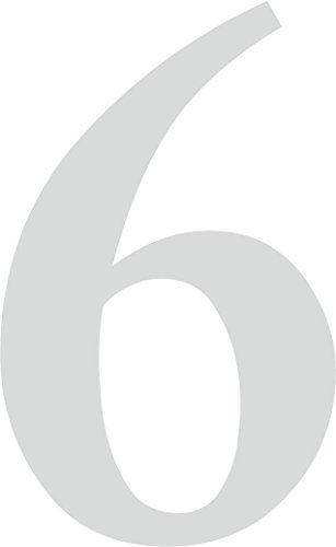 """Preisvergleich Produktbild iSecur® Aufkleber """"selbstklebende Hausnummer - 6 -"""",  Farbe: Silber,  Art. Nr. kfz_264_6_5cm / Außenbereich,  Ziffern,  Zahlen,  Nummern,  Wohnung,  Haus,  Loft,  Appartement,  Hausnummer,  Wandtattoo,  Rauhfaser geeignet,  Tür-,  Fenster-,  Schrank-,  und Spiegelaufkleber (5 cm)"""